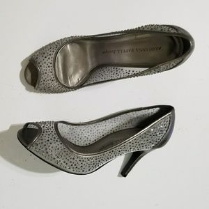 Adrianna Papell Boutique | Silver beaded pumps 8